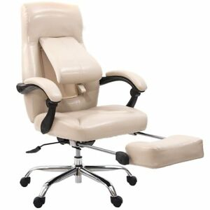 Executive High Back Recliner Home Office Chair With Lumbar And Footrest
