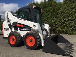 2013 Bobcat S590 Rubber Tire Skid Steer Cab Ac Bob Cat Wheel Loader Skidsteer