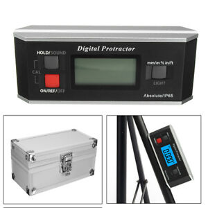 Inclingmeter Digital Protractor V groove Angle Finder Gauge 360 Backlight Ip65