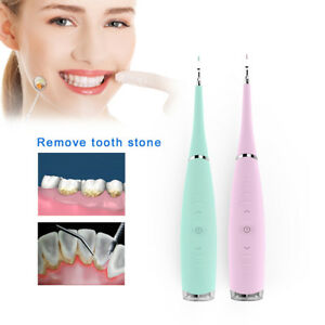 Dental Electric Ultrasonic Scaler Stains Remover Silicone Teeth Whitening Tool