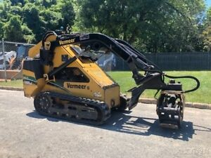 2013 Vermeer S650tx Stand On Skid Steer Rubber Track Grapple 136 Hours Mini