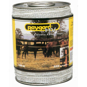 Baygard 00692 328 Feet Yellow Black High Visibility Electric Fence Tape