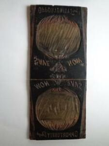 Antique Carved Wooden Letterpress Print Block Plate save Now 39 1 2 X 17