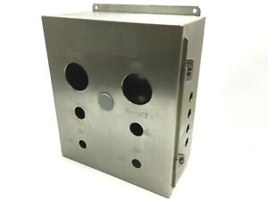 Hoffman A 1412chnfss Enclosure Dimensions 15 5 X 6 5 X 13 304 Stainless Steel