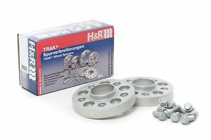 H R 30mm Silver Bolt On Wheel Spacers For 2008 2014 Mini Cooper S Clubman