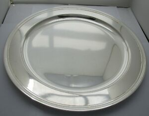 Tiffany Co Midcentury Modern Round Sterling Silver Serving Tray 13