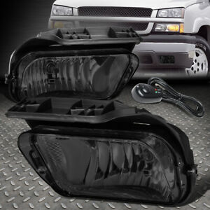 For 02 06 Chevy Avalanche Silverado Smoked Lens Bumper Fog Light Lamps W Switch