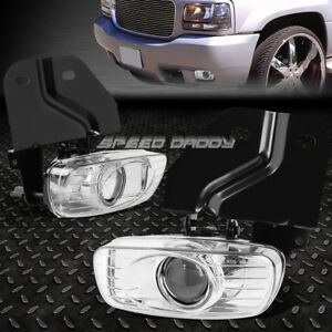 For 99 00 Gmc Yukon Denali escalade Chrome Lens Oe Bumper Driving Fog Light Lamp