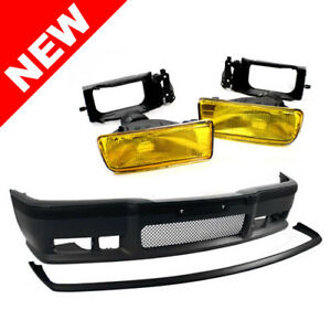 92 98 Bmw E36 Oem Factory Style M3 Front Bumper W Grille Lip Oe Yellow Fogs