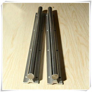 2pcs Sbr25 1000mm 25 Mm Fully Supported Linear Rail Shaft Rod With 4 Sbr25s uu