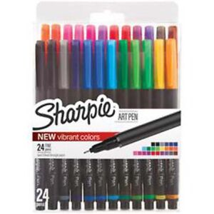 Sanford sharpie Fine Point Art Pen W hardcase 24 pkg assorted