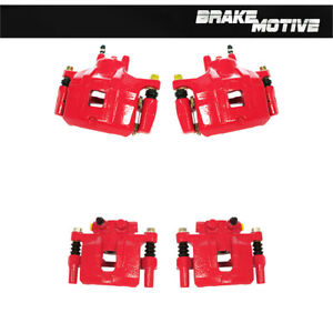 Front Rear Red Powder Coated Brake Calipers Mitsubishi Lancer