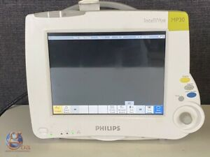 Philips Intellivue Mp30 M8002a W M3001a Patient Vital Signs Monitor New Cables