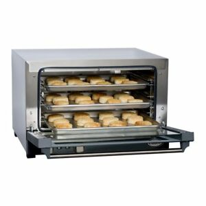 Cadco Ov 013 Half size Convection Oven With Three Shelves