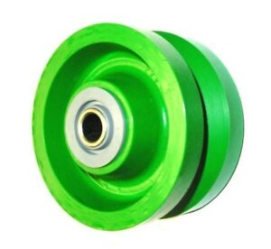 Albion 6 X 2 Polyurethane V groove Wheel With 3 4 Id Roller Bearing