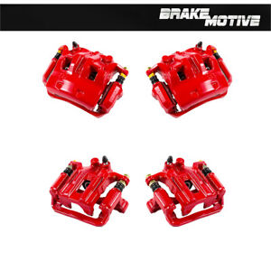 Front And Rear Red Brake Calipers Pair For Nissan Frontier Xterra Equator