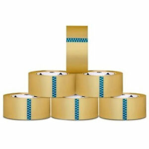 12 Rolls Clear Carton Sealing Packing Tapes Box Shipping 2 inch 1 8 Mil 55 Yards