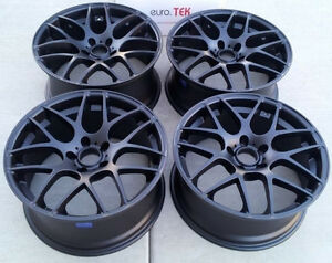 19 Eurotek Wheels For Lexus Gs Gs350 Gs450 Gs460 Staggered Black Rims Set 4