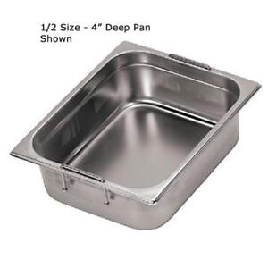 World Cuisine 14155 10 Half Size 4 In Deep Steam Table Pan