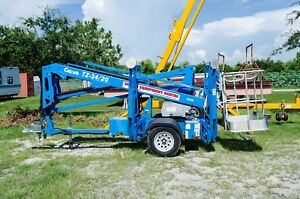 Genie Tz34 20 Towable Boom Lift 40 Height 20 Outreach 2013 only 234 Hours