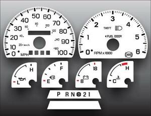 1997 1998 Ford F150 Expedition Dash Cluster White Face Gauges 97 98