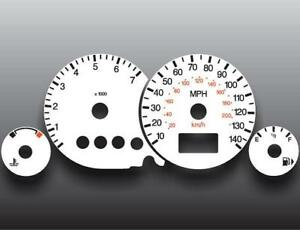 2006 2007 Ford Focus Tach Dash Instrument Cluster White Face Gauges