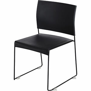 Mayline Safco Currant High density Stack Chairs Set Of 4 Black Model 4271bb