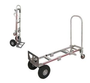 Magliner Gemini Convertible Sr Hand Truck With Carefree Tire 2 to 4 Wheel