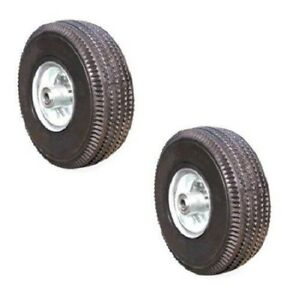 Offset Hub Handtruck Tire 5 8 Id 10 Pneumatic Wheel Air Filled 300 Ea 2 Pack