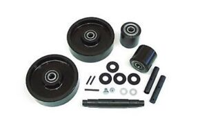 Jet L Pallet Jack Wheel Kit complete includes All Parts Shown
