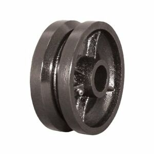 Heavy Duty 6 X 2 V groove Steel Caster Wheel With 1 2 I d Bearing