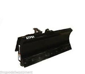 Snow Plow For Skid Steer Loader 60 Manual Angle mfg By Bradco Fits All Brands