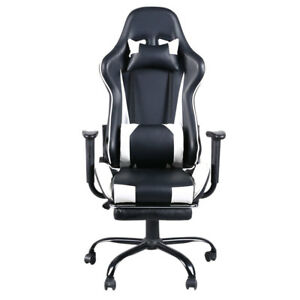 Executive Racing Gaming Chair Reclining Ergonomic Office Chair With Footrest