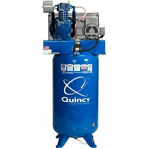 Quincy Compressor Reciprocating Air Compressor 5hp 230v 1 Phase 80 gal V Tank