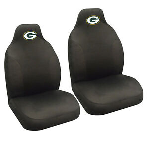 Nfl Green Bay Packers Car Truck 2 Front Seat Covers Set Official Licensed