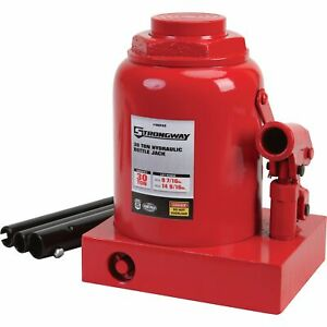 Strongway Hydraulic Bottle Jack 30 ton Capacity 9 7 16in 14 9 16in Lift Range
