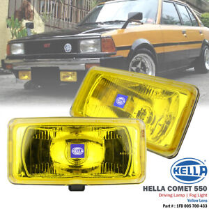 2x Hella Comet 550 Yellow Lens H3 12v Driving Fog Light Lamp For Ford Toyota Bmw