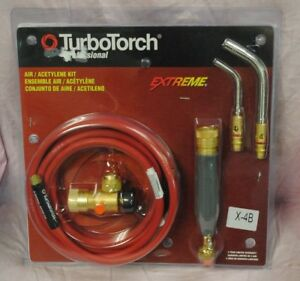 Turbo Torch Professional Extreme Air acetylene Kit X 4b new