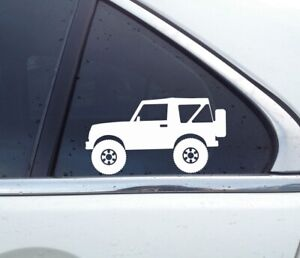 2x Lifted Offroad Truck Stickers For Suzuki Samurai Sj410 Convertible Classic