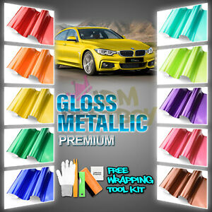 premium High Gloss Metallic Glossy Sticker Decal Vinyl Wrap Air Release Bubble
