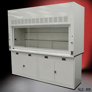 8 Chemical Laboratory Fume Hood With General Storage Lockable Cabinets New