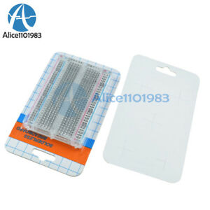 1 5 10pcs Mini Universal Clear Solderless Breadboard 400 Contacts Tie points