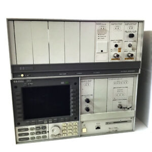 Hp agilent 70001a 8 slot Spectrum Analyzer Mainframe 70004a Display W 5 Modules