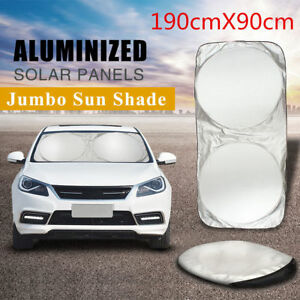Car Windshield Visor Block Cover Foldable Jumbo Extra Large Sun Shade Truck Van