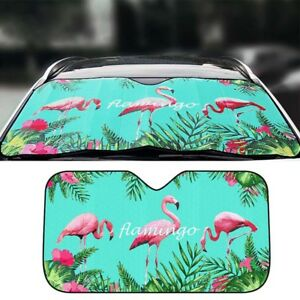 Aluminium Foil Flamingo Car Windshield Sunshades Front Windows Sun Shades