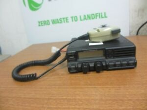 Vertex Vx 4000l Low Band Mobile Radio W Vertex Standard Mic Microphone Mh 25b7