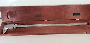 Starrett 123e m 26 Master Vernier Caliper With Case