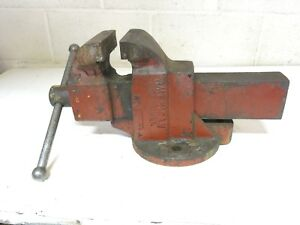 Large Vintage American Scale Co Red Seal Bench Vise 64 Pounds 4 1 2 Jaw