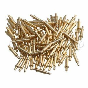 100x Gold plated 9mm Long Copper Needles Thimble Probes Spring Pogo Pin