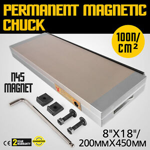 8 x18 Dense Permanent Magnetic Chuck Easy To Storage Stainless Steel Industrial